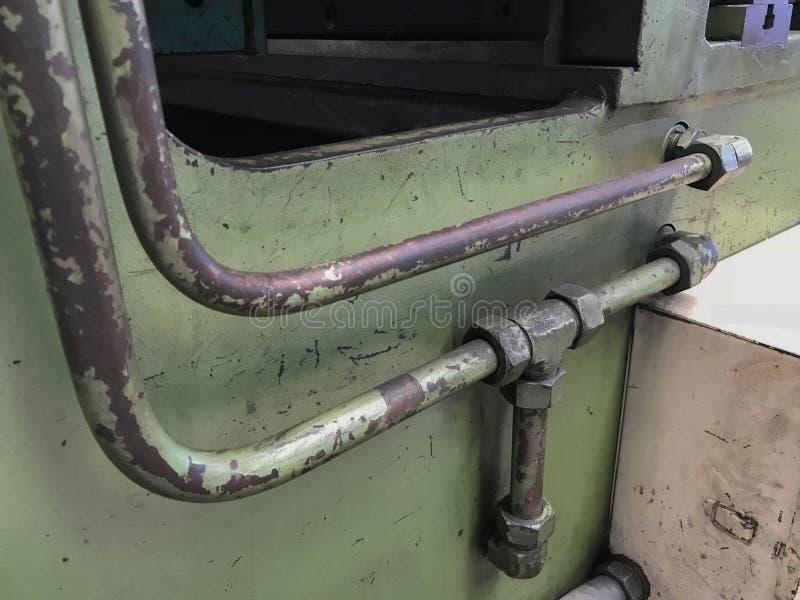 Υδραυλικές μάνικες στη μηχανή στοκ φωτογραφία με δικαίωμα ελεύθερης χρήσης
