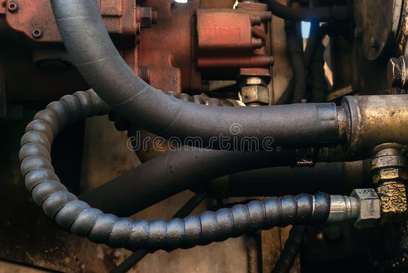 Υδραυλικός βαρύς εξοπλισμός κινήσεων στοκ φωτογραφίες