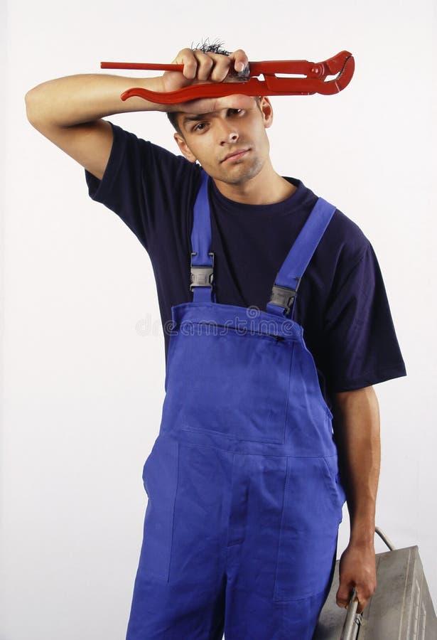 Download υδραυλικός που κουράζ&e στοκ εικόνα. εικόνα από κουρασμένος - 2230699
