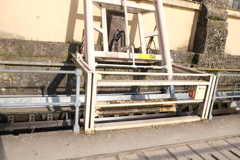 Υδροηλεκτρικές εγκαταστάσεις σε Trezzo, Ιταλία στοκ εικόνα