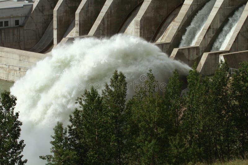 Υδροηλεκτρικό φράγμα φαντασμάτων στοκ εικόνα