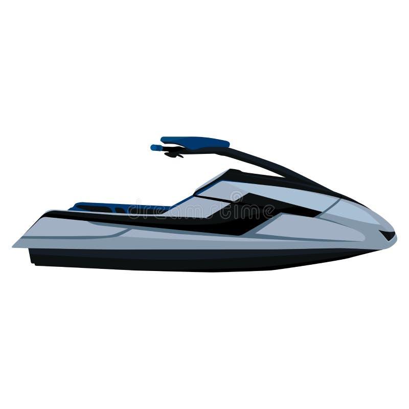 Υδροκύκλος Jet ski, scooter - ένα όχημα για τη μετακίνηση στην επιφάνεια του νερού απεικόνιση αποθεμάτων