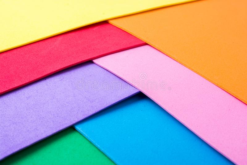 Υλικά ζωηρόχρωμα στρώματα σχεδίου στοκ φωτογραφία με δικαίωμα ελεύθερης χρήσης