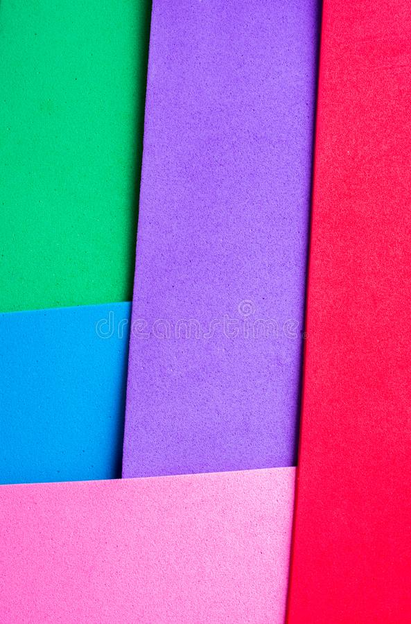 Υλικά ζωηρόχρωμα στρώματα σχεδίου απεικόνιση αποθεμάτων