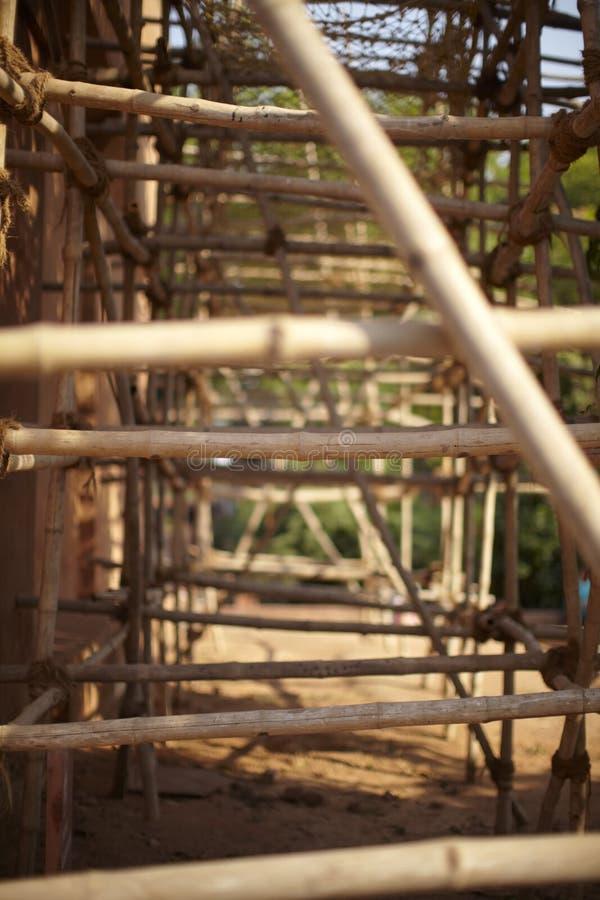 υλικά σκαλωσιάς μπαμπού στοκ φωτογραφία με δικαίωμα ελεύθερης χρήσης