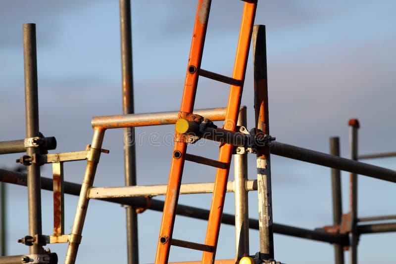 υλικά σκαλωσιάς σκαλών στοκ φωτογραφία με δικαίωμα ελεύθερης χρήσης