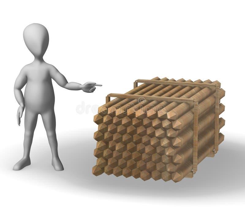 υλική αποθήκη εμπορευμά&ta απεικόνιση αποθεμάτων