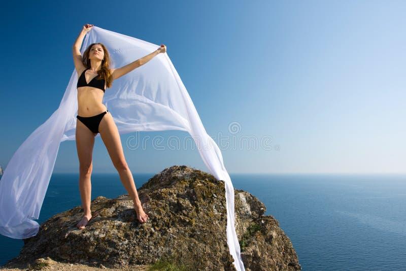υλική λευκή γυναίκα φύση&s στοκ εικόνα