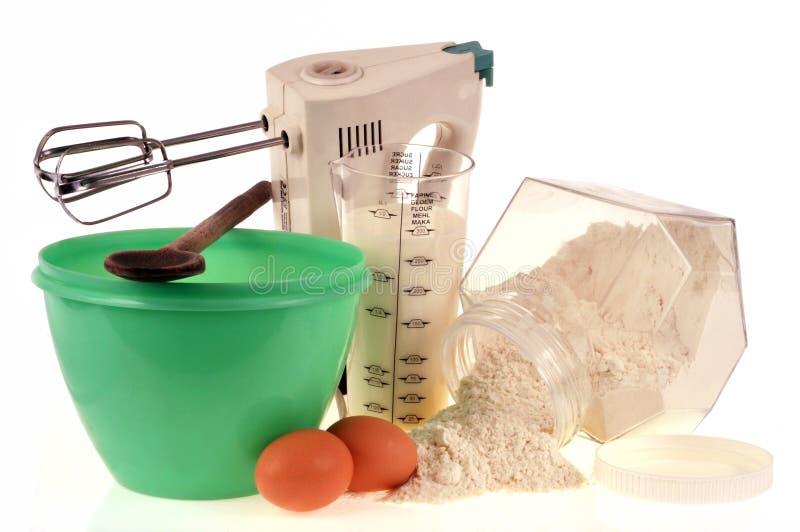 Υλικό και συστατικά για την κατασκευή της ζύμης στοκ εικόνα
