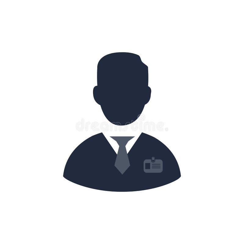 Υπάλληλος επιχείρησης με ένα διακριτικό διανυσματική απεικόνιση