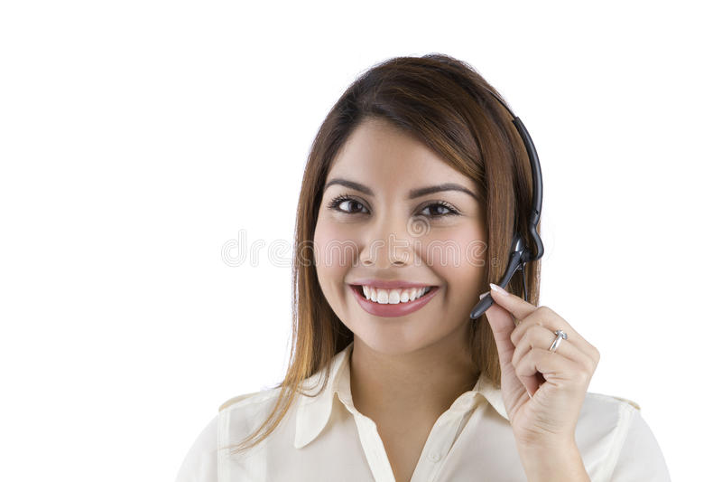 υπάλληλος τηλεφωνικών κέντρων ισπανικός στοκ φωτογραφία με δικαίωμα ελεύθερης χρήσης