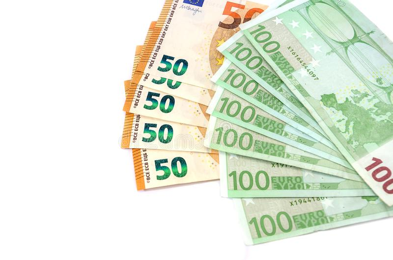 Υπέροχα σχεδιασμένο ευρώ σε ένα άσπρο υπόβαθρο στοκ φωτογραφία με δικαίωμα ελεύθερης χρήσης