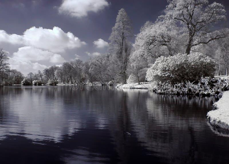 Download υπέρυθρη λίμνη στοκ εικόνα. εικόνα από βακκινίων, υπό, αντανάκλαση - 124783