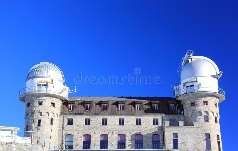 Υπέρυθρο τηλεσκόπιο Gornergrat Οι Άλπεις, Ελβετία στοκ φωτογραφία με δικαίωμα ελεύθερης χρήσης