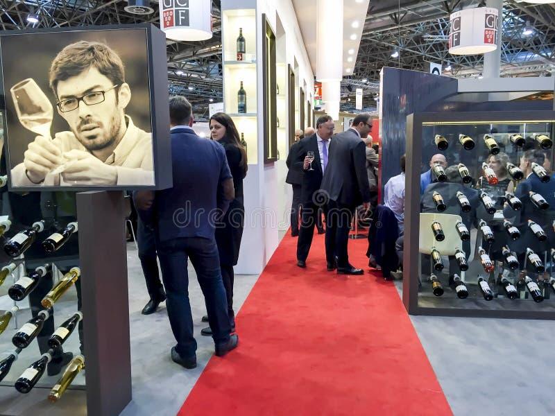 Υπέρ δίκαιο κρασί 2015 διεθνούς εμπορίου Wein στοκ φωτογραφίες