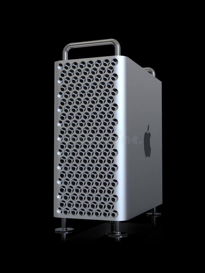 Υπέρ 2019 σύστημα υπολογιστών γραφείου του Apple Mac, προοπτική στοκ φωτογραφίες με δικαίωμα ελεύθερης χρήσης