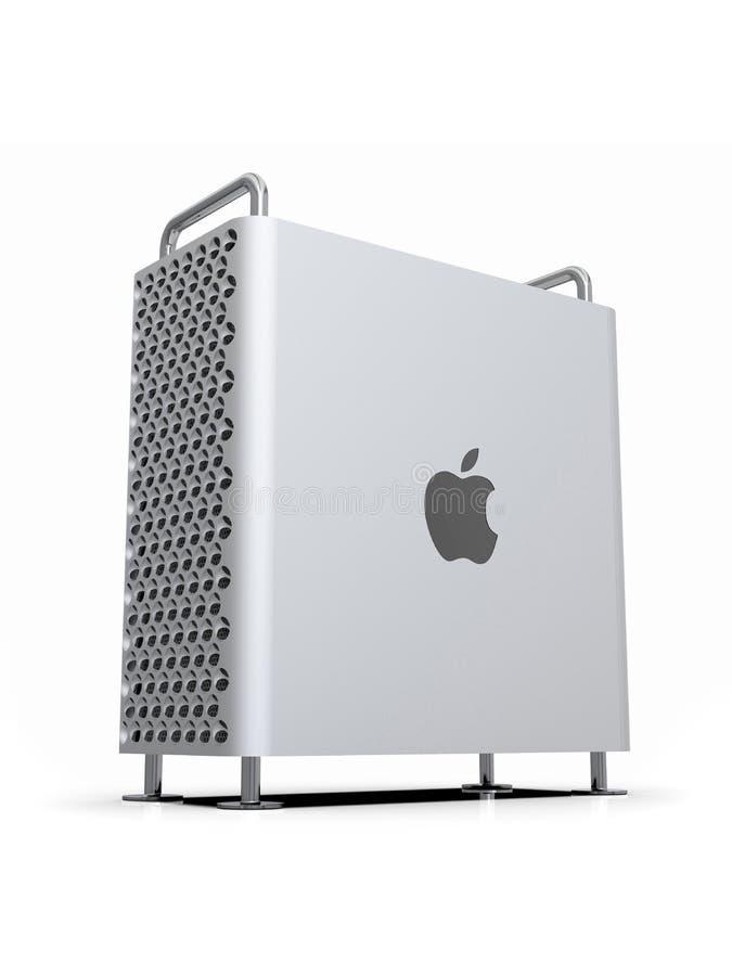 Υπέρ 2019 υπολογιστής γραφείου του Apple Mac, δυναμική κατακόρυφος ελεύθερη απεικόνιση δικαιώματος