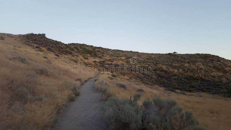 Υπαίθρια ίχνος βουνών στοκ φωτογραφία