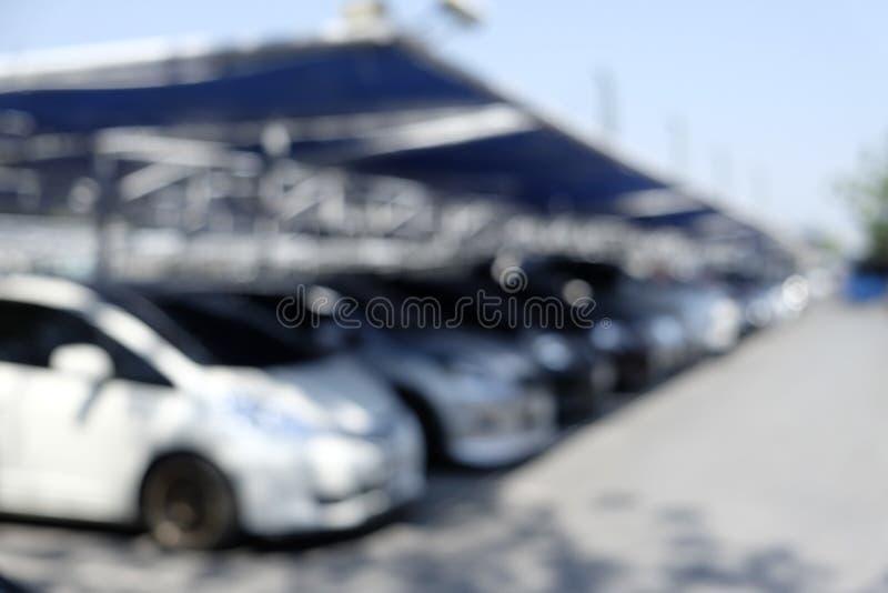 Υπαίθρια θαμπάδα υπαίθριων σταθμών αυτοκινήτων στοκ φωτογραφία με δικαίωμα ελεύθερης χρήσης