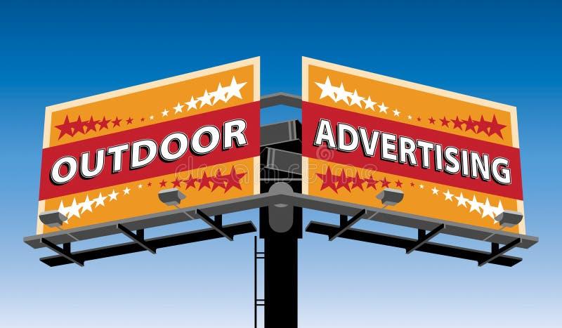 Υπαίθρια διαφήμιση διανυσματική απεικόνιση
