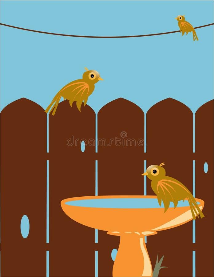 υπαίθρια σκηνή πουλιών ελεύθερη απεικόνιση δικαιώματος