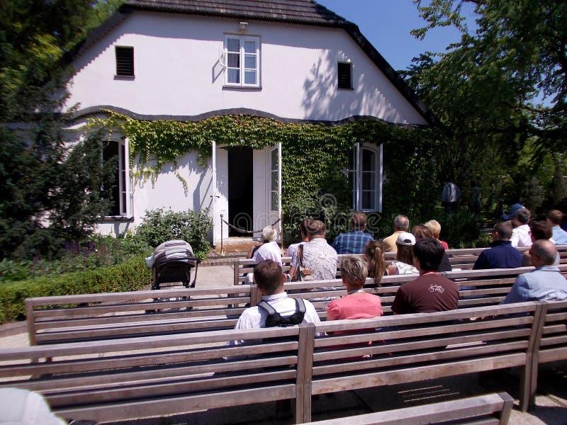 Υπαίθρια συναυλία πιάνων Chopin της μουσικής σε Zelazowa Wola στην Πολωνία στοκ εικόνες