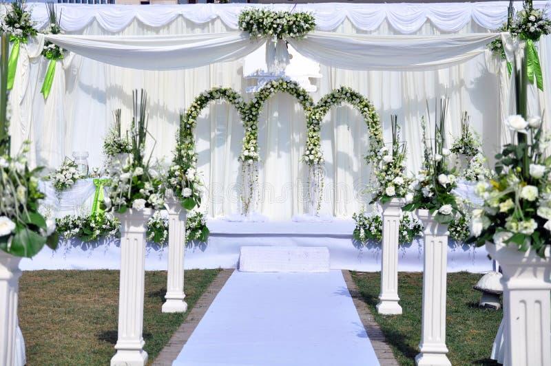 υπαίθριος γάμος σκηνής στοκ εικόνες
