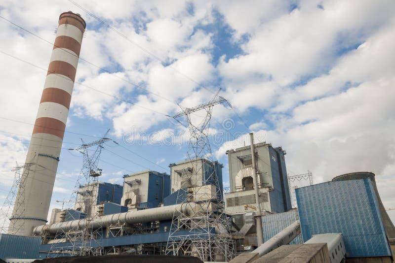 Υπαίθριος του σταθμού παραγωγής ηλεκτρικού ρεύματος - Opole, Πολωνία στοκ φωτογραφία
