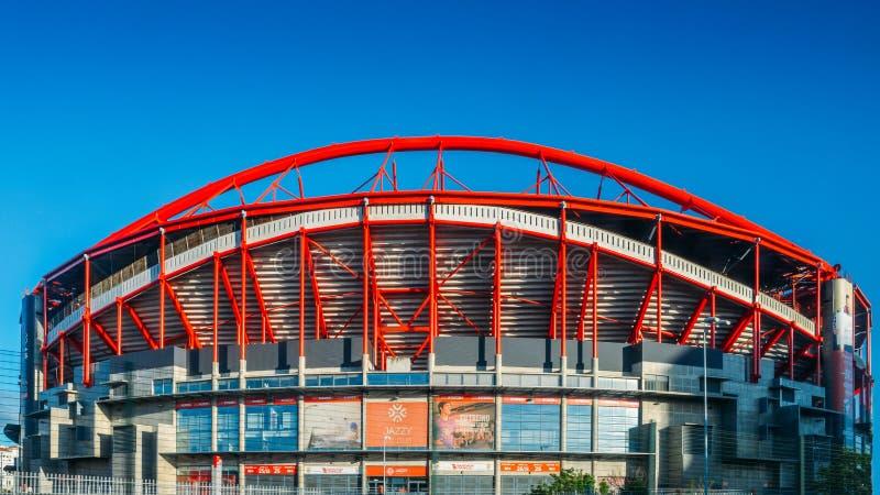 Υπαίθριο πανόραμα Stadio DA Luz, στο αγγλικό στάδιο του φωτός, που φιλοξενεί και τον δύο αθλητισμό Λισσαβώνα ε Benfica Το στάδιο  στοκ φωτογραφίες