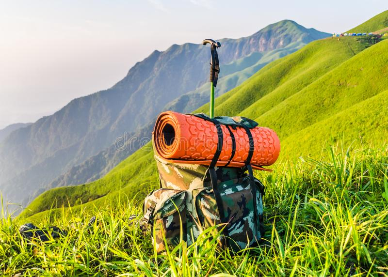 Υπαίθριο περπάτημα στο βουνό Wugong, Jiangxi, Κίνα στοκ εικόνες με δικαίωμα ελεύθερης χρήσης