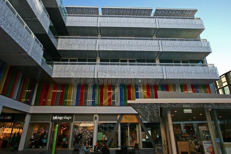 Υπαίθριο προαύλιο του κεντρικού κέντρου BNZ σε Christchurch CBD, Καντέρμπουρυ, νότιο νησί, Νέα Ζηλανδία στοκ εικόνα με δικαίωμα ελεύθερης χρήσης