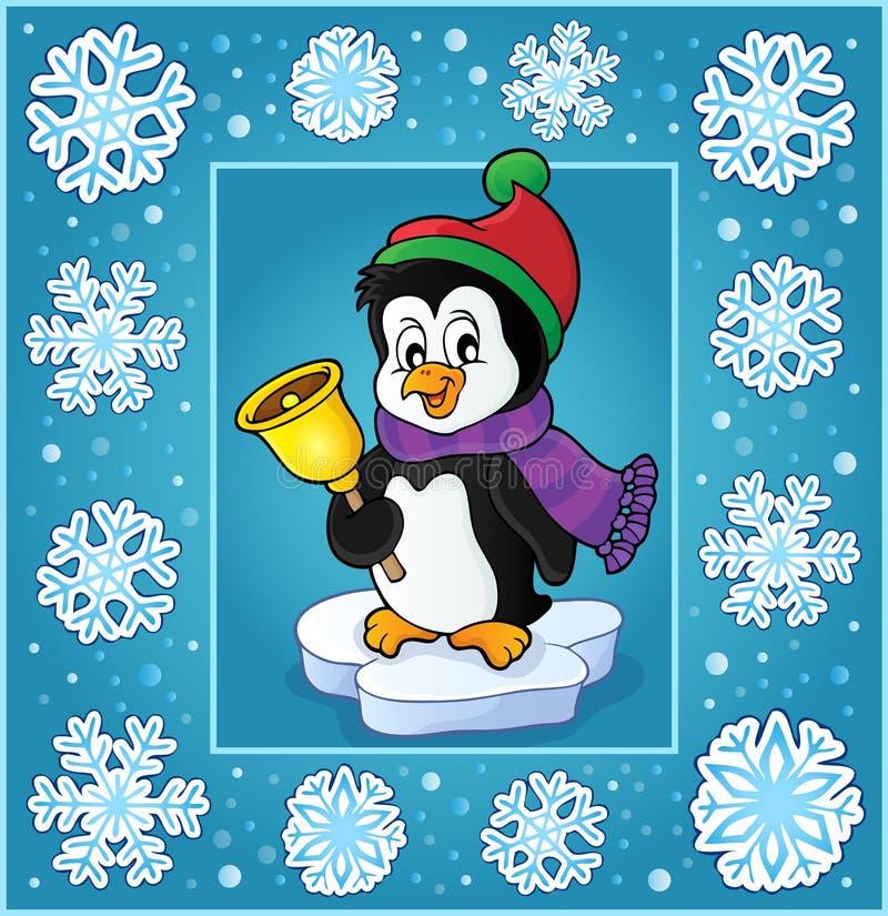 Υπαγόμενη ευχετήρια κάρτα 6 Χριστουγέννων ελεύθερη απεικόνιση δικαιώματος