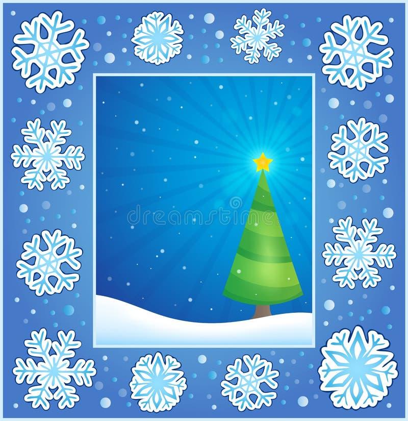 Υπαγόμενη ευχετήρια κάρτα 1 Χριστουγέννων απεικόνιση αποθεμάτων