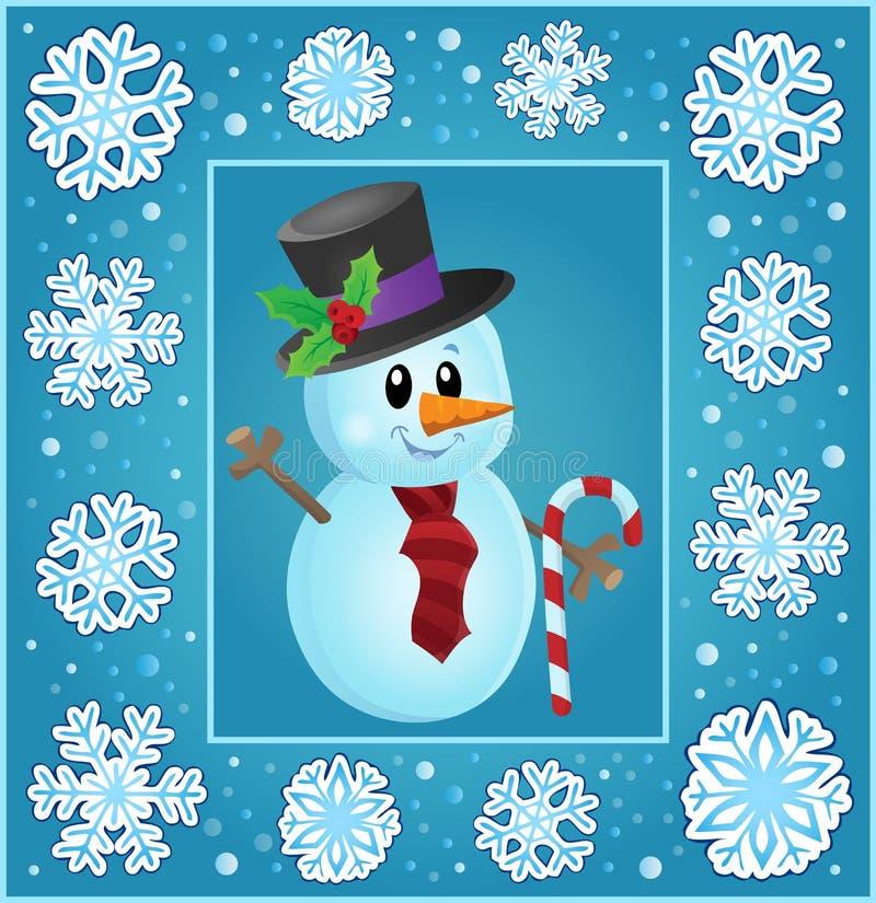 Υπαγόμενη ευχετήρια κάρτα 8 Χριστουγέννων διανυσματική απεικόνιση