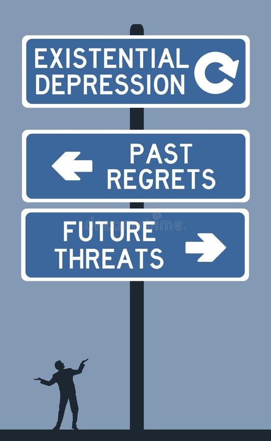 Υπαρξιακή κατάθλιψη διανυσματική απεικόνιση