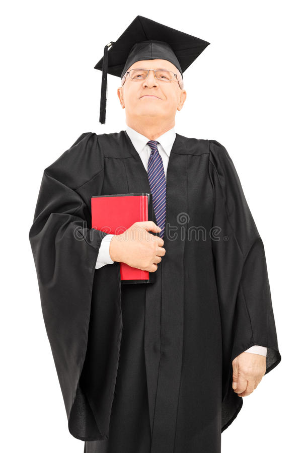 Υπερήφανα αρσενικά βιβλία και στάση εκμετάλλευσης καθηγητή κολλεγίων στοκ εικόνα με δικαίωμα ελεύθερης χρήσης