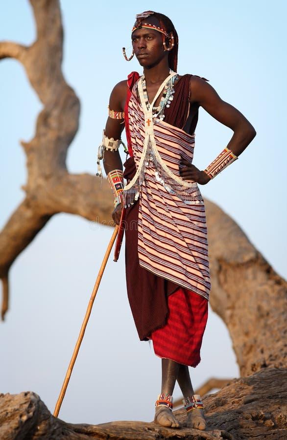 Υπερήφανος πολεμιστής Maasai σε Loitoktok, Κένυα στοκ φωτογραφία με δικαίωμα ελεύθερης χρήσης