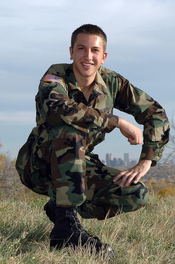 Υπερήφανος στρατιώτης στοκ εικόνες με δικαίωμα ελεύθερης χρήσης