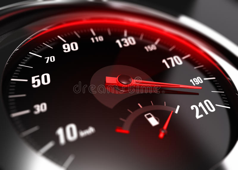 Υπερβολική επιταχυνόμενη απρόσεκτη Drive έννοια απεικόνιση αποθεμάτων