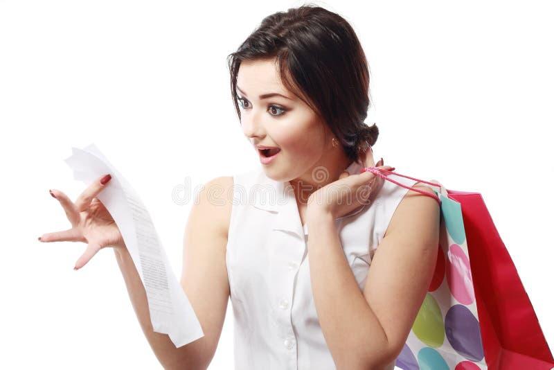 Υπερβολική σπατάλη Shopaholic στοκ εικόνες
