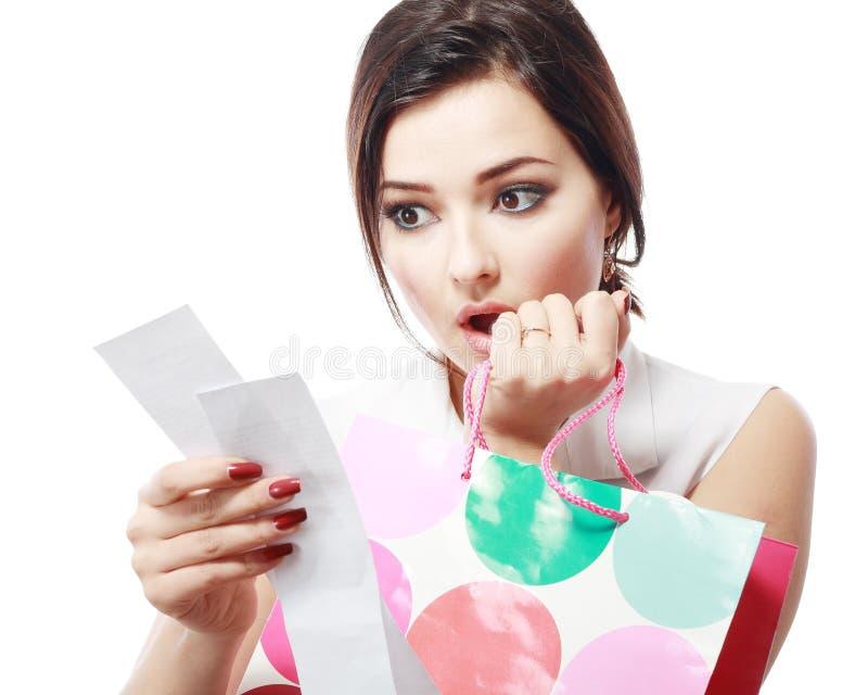 Υπερβολική σπατάλη Shopaholic στοκ φωτογραφίες