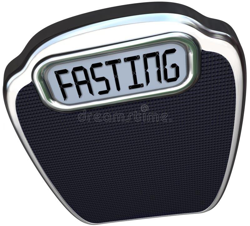 Υπερβολικό βάρος κλίμακας μανίας διατροφής νηστείας Word 5-2 διανυσματική απεικόνιση