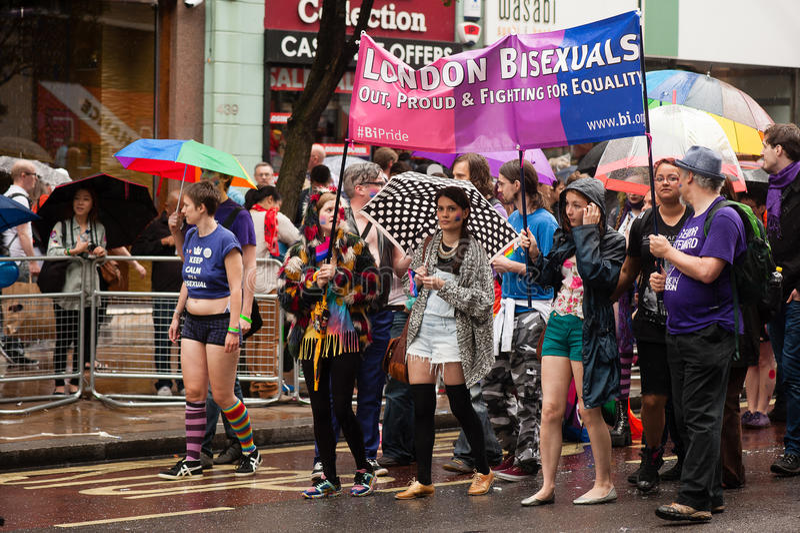 Υπερηφάνεια 2014 του Λονδίνου στοκ εικόνες