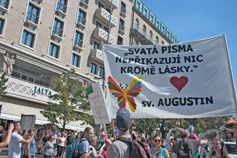 Υπερηφάνεια Pararde 2012 της Πράγας στοκ εικόνες με δικαίωμα ελεύθερης χρήσης