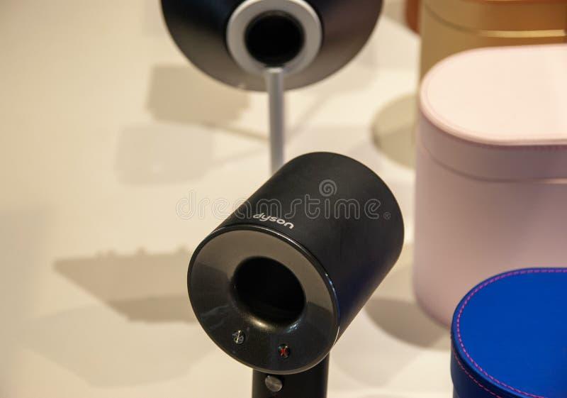 Υπερηχητικός στεγνωτήρας τρίχας Dyson στοκ φωτογραφίες με δικαίωμα ελεύθερης χρήσης