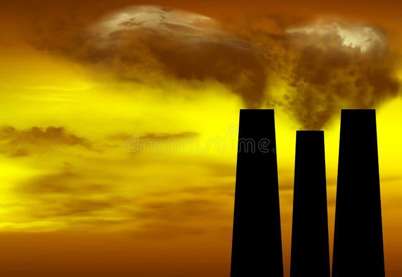Υπερθέρμανση του πλανήτη διανυσματική απεικόνιση