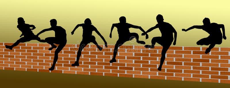 Υπερνικήστε ένα εμπόδιο - ομάδα εργασίας ελεύθερη απεικόνιση δικαιώματος