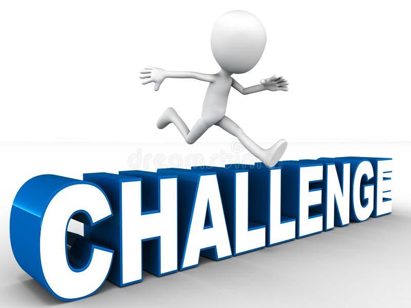 Υπερνικημένη πρόκληση διανυσματική απεικόνιση