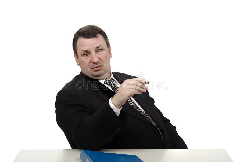 Υπεροπτικός ερευνητής που κοιτάζει κατευθείαν στοκ φωτογραφία με δικαίωμα ελεύθερης χρήσης