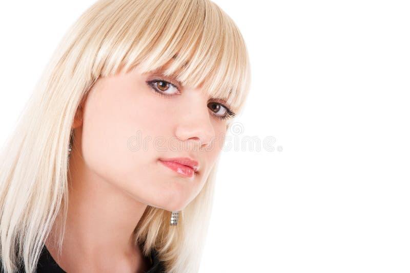 Υπεροπτικός κοιτάξτε του κοριτσιού στοκ εικόνα
